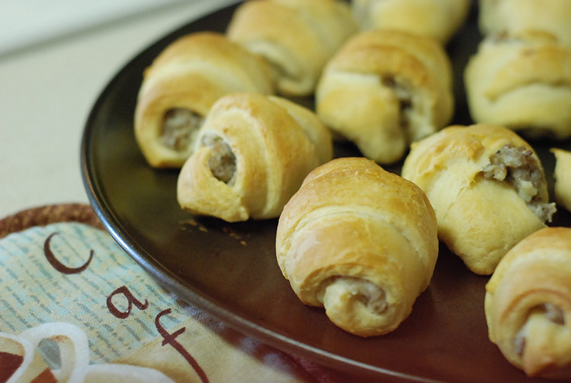 Sausages in crescent rolls
